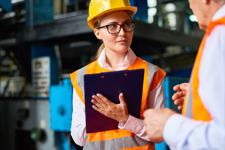 Safety Inspection at Factory Workshop Stock Photo - 84780081