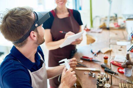 People in Jewelry Workshop