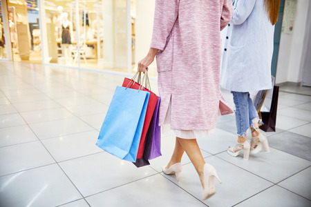 retail therapy: Young Women Going Shopping