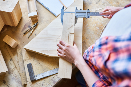 Female Carpenter at Work Close Up