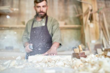 Traditionele schrijnwerkerij Stockfoto