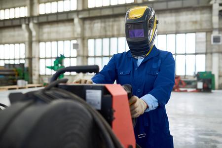 マスク設定機器工場溶接機