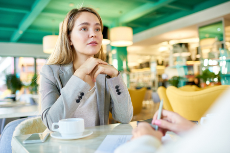 Business Women Meeting at Coffee Break