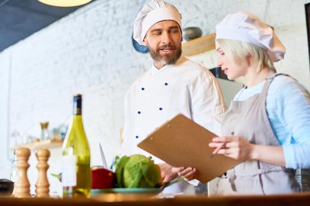 Culinaire geheimen delen Stockfoto