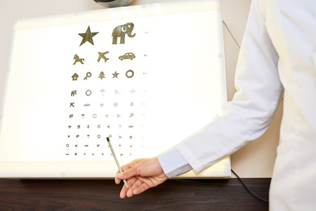 Ophthalmologist Pointing to Eye Chart