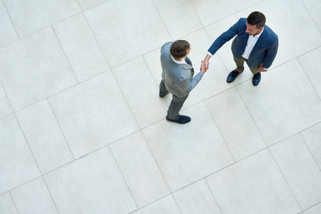 Business People Shaking Hands, Top View