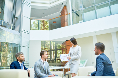 Business Presentation in Modern Office Stock Photo