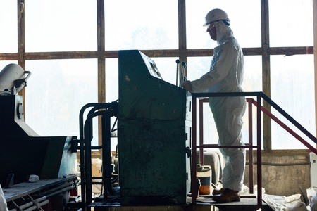 Biohazard Work at Factory Banco de Imagens