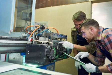 Mechanics Fixing Machine at Factory