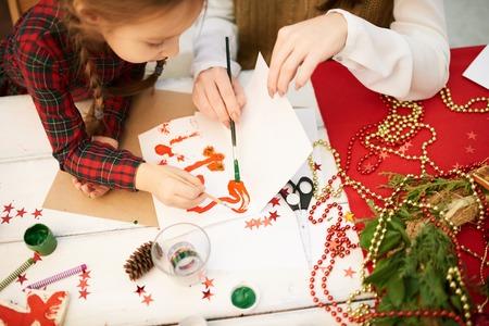 Making Christmas Present at Art Class