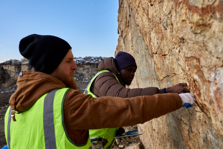 Miners Testing Land