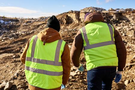 Mijnwerkers in Alaska Stockfoto