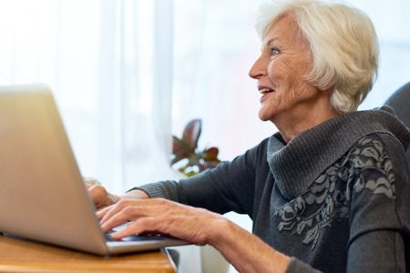 Senior Woman Browsing Internet