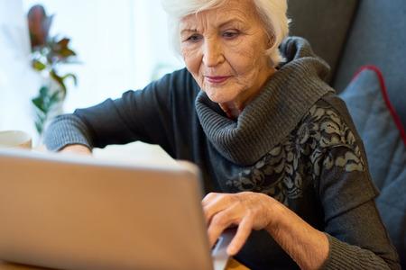 Senior Entrepreneur Focused on Work