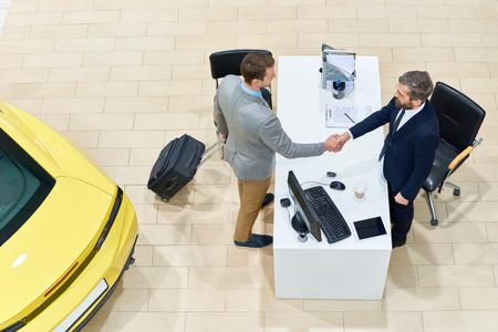 Businessman Renting Car