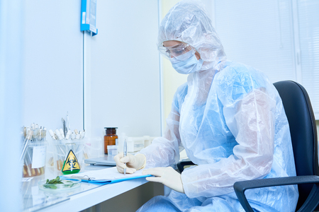 Scientist Researching Virus