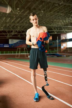 Handicapped Sportsman in Stadium
