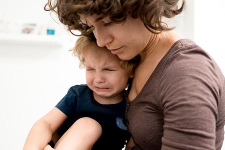 Calming Down Little Boy