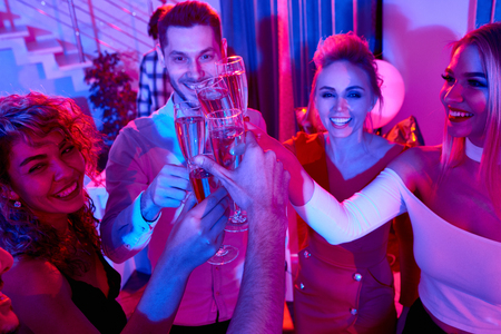 People Toasting at Private Party