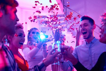 Holiday Celebration at Party Banco de Imagens