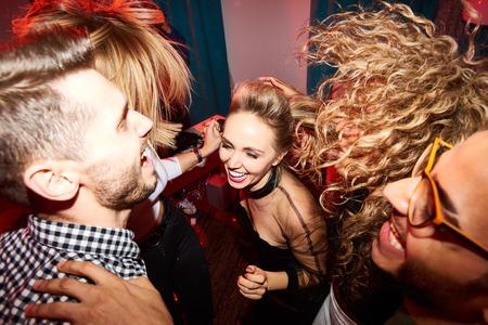Ecstatic Young People Dancing Banco de Imagens
