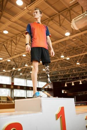 Paralympic Champion on Podium