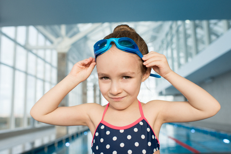 Little Swimmer Posing for Photography