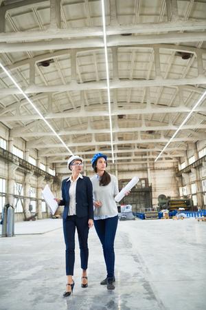 Female Engineering Crew Stockfoto