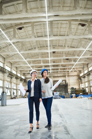 Female Engineering Crew Banco de Imagens