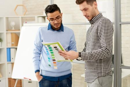 Designers Discussing Color Palette