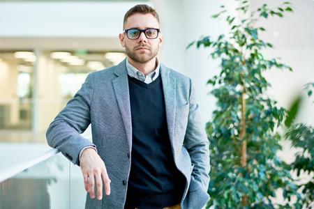 Modern Businessman Wearing Glasses Zdjęcie Seryjne