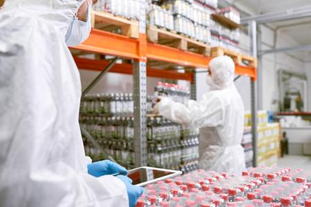 Working in Food Factory Warehouse Stock fotó - 96470228