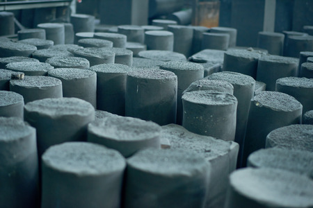 Rows of Graphite Manufactured Articles Imagens