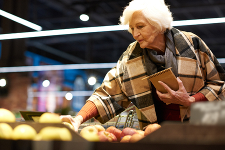 Elegant Senior Woman in Grocery Store
