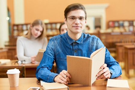 Student often visiting scientific library