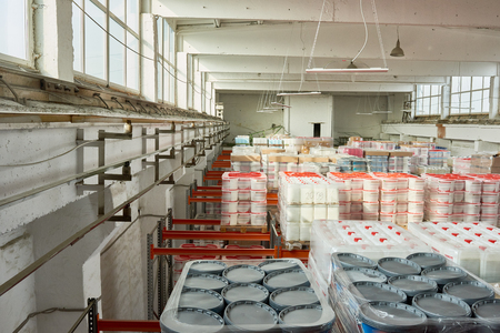 Paints in Warehouse Imagens