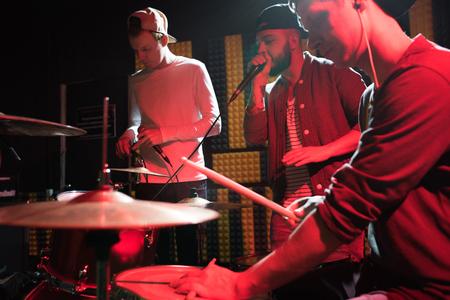 Music Band at Rehearsal