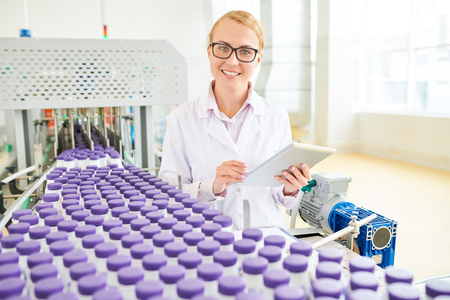 Pretty Technologist Posing for Photography Stock Photo