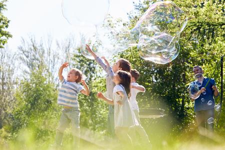 Little Participants of Soap Bubble Show