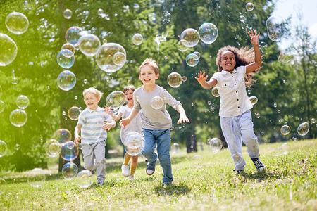 Little Kids Having Fun Outdoors