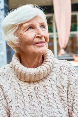 Elegant Old Woman in Retirement