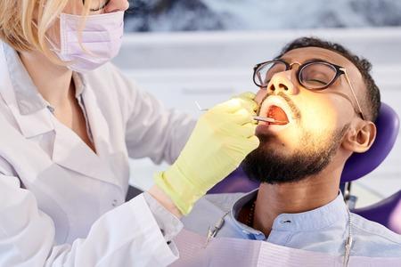 Undergoing Dental Filling Stock Photo