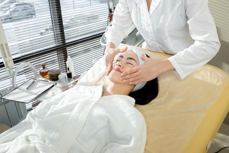 Pretty Woman Enjoying Face Massage