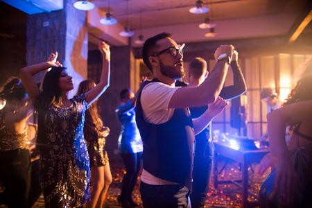 Young Man Enjoying Music in Club