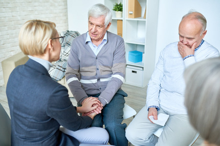 Therapy Session in Retirement Home Stock Photo