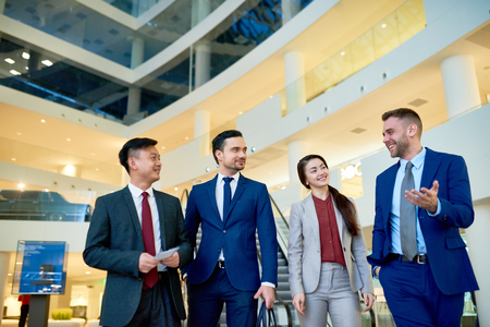 Group of Young Business People at Work Stock Photo