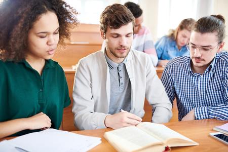 Study at college Foto de archivo