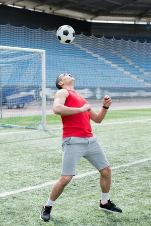 Handsome Man Playing Football Stok Fotoğraf