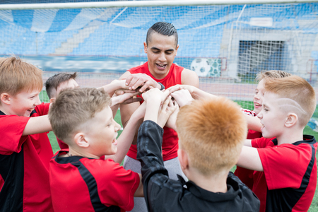 Football Team Huddling before Match