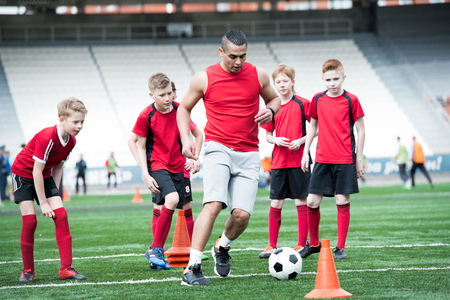 Football Coach Training Junior Team